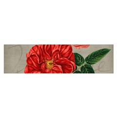 Flower Floral Background Red Rose Satin Scarf (oblong)