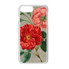 Flower Floral Background Red Rose Apple Iphone 7 Plus Seamless Case (white)