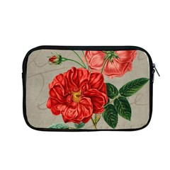 Flower Floral Background Red Rose Apple Macbook Pro 13  Zipper Case by Nexatart