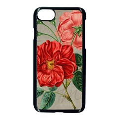 Flower Floral Background Red Rose Apple Iphone 8 Seamless Case (black)
