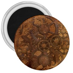 Background Steampunk Gears Grunge 3  Magnets