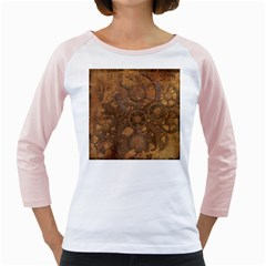 Background Steampunk Gears Grunge Girly Raglans