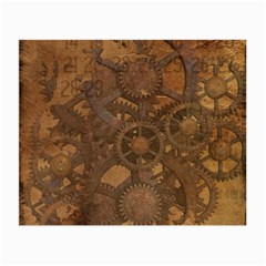 Background Steampunk Gears Grunge Small Glasses Cloth