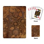 Background Steampunk Gears Grunge Playing Card Back