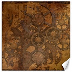 Background Steampunk Gears Grunge Canvas 12  X 12