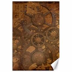 Background Steampunk Gears Grunge Canvas 20  X 30