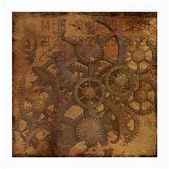 Background Steampunk Gears Grunge Medium Glasses Cloth (2 Side)