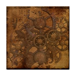 Background Steampunk Gears Grunge Face Towel