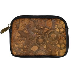 Background Steampunk Gears Grunge Digital Camera Cases