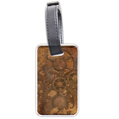 Background Steampunk Gears Grunge Luggage Tags (two Sides)