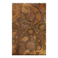 Background Steampunk Gears Grunge Shower Curtain 48  X 72  (small)