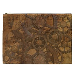 Background Steampunk Gears Grunge Cosmetic Bag (xxl)