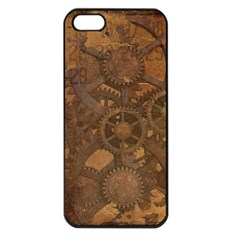 Background Steampunk Gears Grunge Apple Iphone 5 Seamless Case (black) by Nexatart