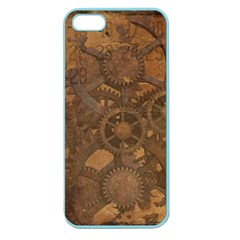 Background Steampunk Gears Grunge Apple Seamless Iphone 5 Case (color)