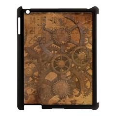 Background Steampunk Gears Grunge Apple Ipad 3/4 Case (black)