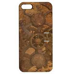 Background Steampunk Gears Grunge Apple Iphone 5 Hardshell Case With Stand