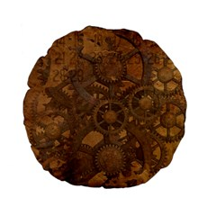 Background Steampunk Gears Grunge Standard 15  Premium Flano Round Cushions by Nexatart