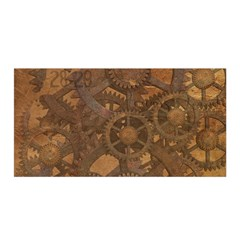 Background Steampunk Gears Grunge Satin Wrap