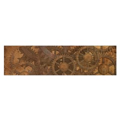 Background Steampunk Gears Grunge Satin Scarf (oblong) by Nexatart