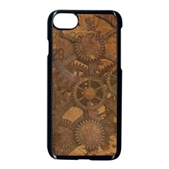 Background Steampunk Gears Grunge Apple Iphone 7 Seamless Case (black)