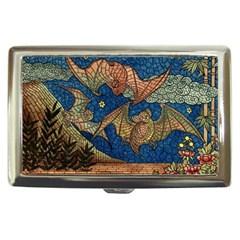 Bats Cubism Mosaic Vintage Cigarette Money Cases by Nexatart