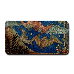 Bats Cubism Mosaic Vintage Medium Bar Mats