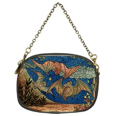 Bats Cubism Mosaic Vintage Chain Purses (one Side)