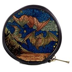 Bats Cubism Mosaic Vintage Mini Makeup Bags