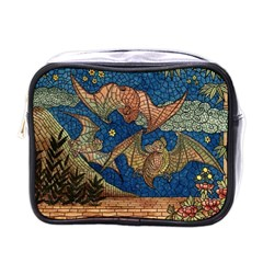 Bats Cubism Mosaic Vintage Mini Toiletries Bags
