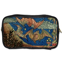 Bats Cubism Mosaic Vintage Toiletries Bags 2 Side