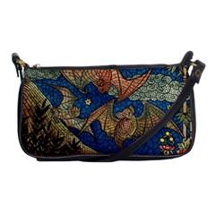 Bats Cubism Mosaic Vintage Shoulder Clutch Bags