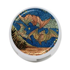 Bats Cubism Mosaic Vintage 4 Port Usb Hub (one Side)