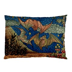 Bats Cubism Mosaic Vintage Pillow Case (two Sides)