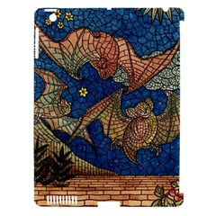 Bats Cubism Mosaic Vintage Apple Ipad 3/4 Hardshell Case (compatible With Smart Cover)