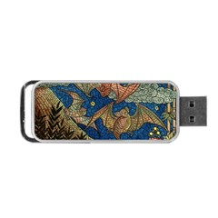 Bats Cubism Mosaic Vintage Portable Usb Flash (two Sides)
