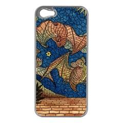 Bats Cubism Mosaic Vintage Apple Iphone 5 Case (silver)