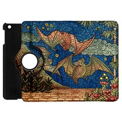 Bats Cubism Mosaic Vintage Apple Ipad Mini Flip 360 Case