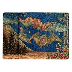 Bats Cubism Mosaic Vintage Samsung Galaxy Tab 10 1  P7500 Flip Case