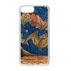 Bats Cubism Mosaic Vintage Apple Iphone 7 Plus Seamless Case (white) by Nexatart