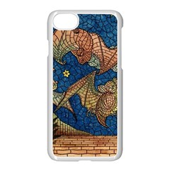 Bats Cubism Mosaic Vintage Apple Iphone 8 Seamless Case (white)