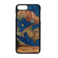 Bats Cubism Mosaic Vintage Apple Iphone 8 Plus Seamless Case (black) by Nexatart