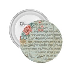 Vintage Floral Background Paper 2 25  Buttons