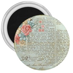Vintage Floral Background Paper 3  Magnets