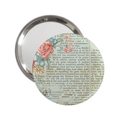 Vintage Floral Background Paper 2 25  Handbag Mirrors