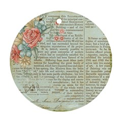 Vintage Floral Background Paper Round Ornament (two Sides)