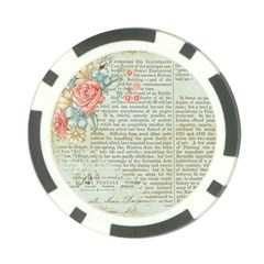Vintage Floral Background Paper Poker Chip Card Guard (10 Pack)