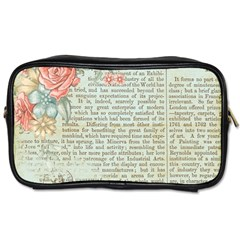 Vintage Floral Background Paper Toiletries Bags