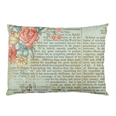 Vintage Floral Background Paper Pillow Case (two Sides)