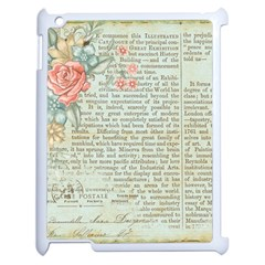 Vintage Floral Background Paper Apple Ipad 2 Case (white)