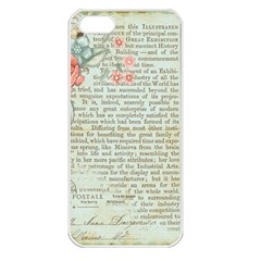 Vintage Floral Background Paper Apple Iphone 5 Seamless Case (white)